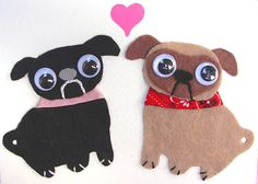 pugs and kisses card by ~KitschyGalore