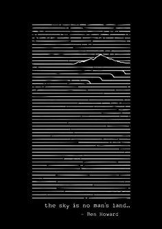 The sky is no man's land - Ben Howard Art Print