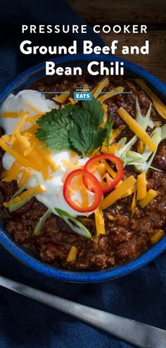 Unlike a lot of chili recipes that call for short cooking times but deliver terrible flavor, this classic ground beef-and-bean recipe saves time the right way, by using a pressure cooker, not by cutting corners. Beef Bean Chili Recipe, Classic Chili Recipe, No Bean Chili, Bean Recipes, Chili Recipes, How To Cook Beans, Serious Eats, Game Day Food, Instant Pot Pressure Cooker