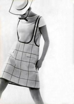 Fashion by Courrèges, 1960s.