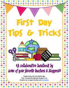 *Bunting, Books, and Bainbridge*: It's Here- Collaborative First Day Tips Handbook freebie!