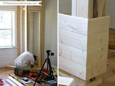 I am going to have my favorite carpenter build this closet for the upstairs bedroom.  Such a great idea.
