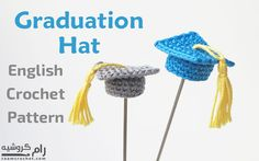 Since we're almost at the end of the year, I decided to share this mini crochet graduation hat. It's so easy and perfect as gifts in graduation parties.