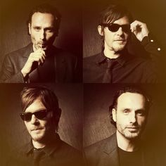 Andrew Lincoln & Norman Reedus.... too much sexy! @Maren Pederson Pederson Pederson Anderson