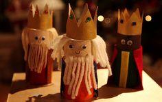 La noche de los reyes magos es uno de los días más esperados del año, especialmente para los más pequeños de la casa. Estos días disfrutan de vacaciones escolares y es importante tratar de buscar actividades para que no estén todo el día sentados delante de una pantalla. Las manualidades con cartón, son una idea … Christmas Decorations For Kids, Christmas Tree Ornaments, Christmas Crafts, Holiday Decor, Cardboard Tube Crafts, Toilet Paper Roll Crafts, Advent Activities, Bible Story Crafts, Festive Crafts