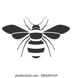 Bee Stencil, Cool Stencils, Image Clipart, Clipart Images, Honey Bee Drawing, Bee Outline, Bee Coloring Pages, Bee Icon, Bee Clipart