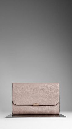 Burberry Small Print Leather Clutch Bag. Great color