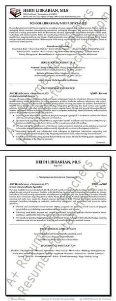 Sales Resume Example Sales resume, Resume examples and Job search - school librarian resume
