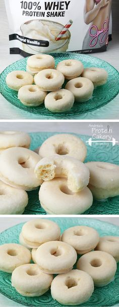 Prot: 10 g, Carbs: 5 g, Fat: 15 g, Cal: 202 -- I really want to get a doughnut pan so I can make these!
