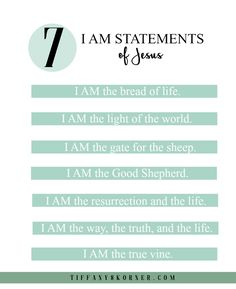 Take a journey to discover the important seven key, I AM statements of Jesus to help ache our weary souls. This is the six week lowdown on my journey of seeing, feeling, reading, and understanding God's Words coming alive right before my eyes. He wants to be all that we need, but also all that we desire as well.  #FindingIAM
