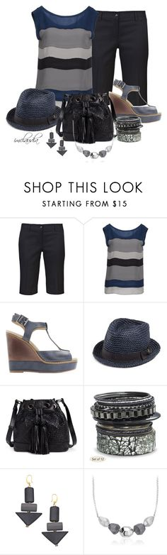 """Blue Fedora"" by imclaudia-1 ❤ liked on Polyvore featuring Strenesse Blue, Splendid, GUESS, Elliott Lucca, David Aubrey and Blue Nile"