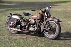 1948 Harley Panhead Classic Motorcycle - Dirty & Rusty | Classic ...