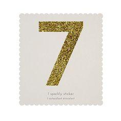 Chunky Gold Glitter 7 Sticker