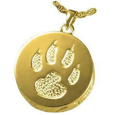 Memorial Gallery Pets Cat Paw Gold/Sterling Silver Plating Cremation Pendant ** Find out more about the great product at the image link. (This is an affiliate link and I receive a commission for the sales) Luxury Store, Dog Itching, Dog Training Pads, Dog Dental Care, Dog Food Storage, Dog Shower, Dog Shedding, Dog Diapers, Dog Eyes