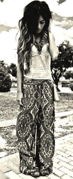 Floppy pants Hippie Style