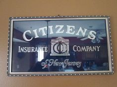 Vintage Citizens Insurance Company of New Jersey Framed Ad Sign   ebay