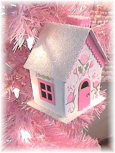 Pink Rose Glitter Cottage by Bluebird Becca, via Flickr