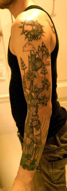 ART BY NOON- love the patchwork of this sleeve! I have not seen anything like this , very unique, very cool.