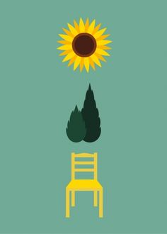 Minimalist Icons: Famous Painters to Guess: Vincent Van Gogh Art And Illustration, Illustrations, Art Pop, Vincent Willem Van Gogh, Minimalist Icons, Designers Gráficos, Arte Van Gogh, Art Classroom, Mellow Yellow