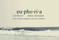 Euphoria- the origin of this word is from Greek. It comes from two Greek words, the first word is eu : which means well. The second word is pherein: which means to bear. Fancy Words, Cute Words, Weird Words, Big Words, Pretty Words, Beautiful Words, Greek Words, Unusual Words, Unique Words