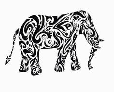 tribal elephant tattoo