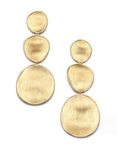 Marco bicego Lunaria 18k Yellow Gold Drop Earrings in Metallic | Lyst