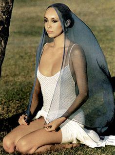"""Vogue Italia April 1977 """"Gli Abiti de Estate Sulla Via Delle Indie"""" Model: Marie Helvin Photographer: David Bailey"""