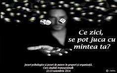 """Centrul de Studii și Formare Profesională a Adulților organizează sâmbătă, 22 noiembrie și duminică, 23 noiembrie, în intervalul orar 10:00-18:00, cursul """"Jocuri psihologice și jocuri de putere în grupuri și organizații"""", curs de analiză tranzacțională.  Detalii eveniment: https://www.facebook.com/events/715977378493975/  REZERVĂ LOC!: http://bit.ly/14dA3Ub"""