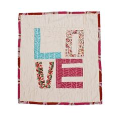 Image of Love Quilted Wall Hanging