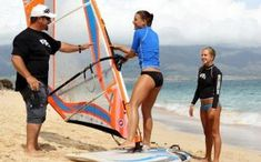 Working from Mauritius - learning how to windsurf