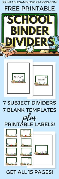 Free Printable School Binder Dividers And Cute Label Stickers!