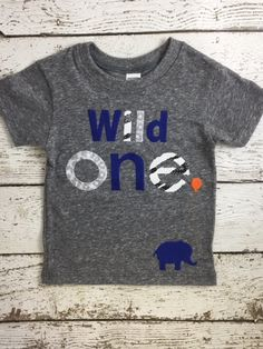 New lil threadz design posted! Wild one First birthday shirt Wild 1 animal print elephant shirt organic blend boys girl birthday tee custom shirt animal party zoo birthday by lilthreadzclothing
