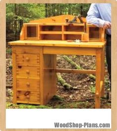 desk woodworking plans - WoodShop Plans