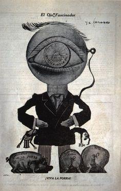 José Clemente Orozco, Spellbinding Eye, via cavetocanvas Diego Rivera, Creepy Horror, Horror Art, Gerardo Murillo, Eyeball Drawing, Jose Maria Velasco, Clemente Orozco, Halloween Eyeballs, Circus Poster