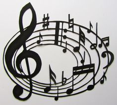 Music Notes  for MUSIC LOVERs Wall and Home Décor Silhouette Paper Cutout ORIGINAL Design SIGNED Handmade Framed One Of A Kind. $100.00, via Etsy.
