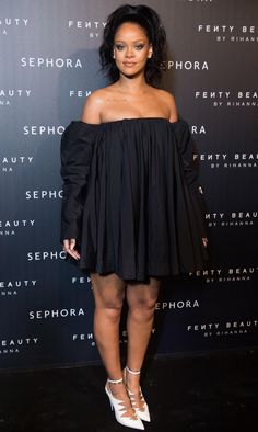 Rihanna at her fentybeauty launch in Paris