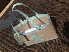 #Strandtasche, #Korbtasche, #Stampin'Up Tasche, #Papiertasche,