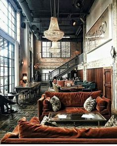 Industrial Style 746612444463930364 - Bon Pic Style Architectural classic Concepts, Source by tanguymailis Interior Design Chicago, Industrial Interior Design, Vintage Industrial Decor, Industrial House, Home Interior Design, Interior Decorating, Industrial Style, Industrial Furniture, Industrial Loft Apartment
