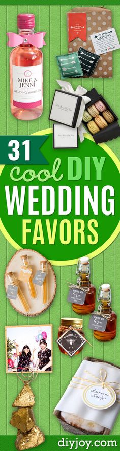 DIY Wedding Favors - Do It Yourself Ideas for Brides and Best Wedding Favor Ideas for Weddings - Step by Step Tutorials for Making Mason Jars, Rustic Crafts, Flowers, Small Gifts, Modern Decor, Vintage and Cheap Ideas for Couples on A Budget Outdoor and Indoor Weddings http://diyjoy.com/diy-wedding-favors