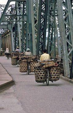 at Long Biên bridge, Hà Nội