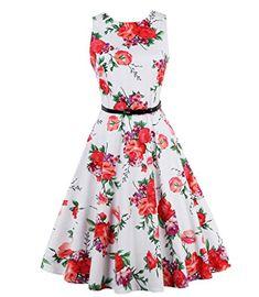 Brand S - Women Dress Retro Vintage Rockabilly Floral Swing Summer Dresses Vestidos. Product ID: Trendy Dresses, Elegant Dresses, Plus Size Dresses, Vintage Dresses, Casual Dresses, Summer Dresses, Short Dresses, Swing Dress 50s, Robe Swing