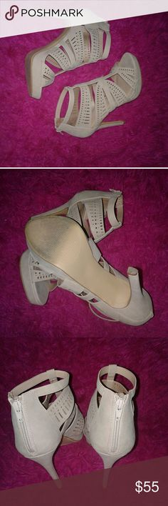 EUC Apt. 9 Heels Worn once. Taupe colored. With 4 in heel. Apt. 9 Shoes Heels