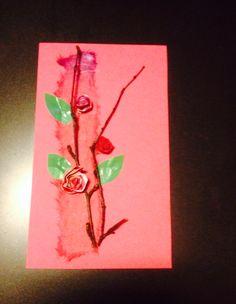 Äitienpäväkortti Oksat ja spiraaliruusut