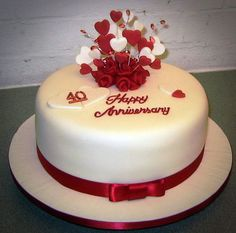 Sweets Wedding Anniversary Cake : red wedding anniversary cakes ideas
