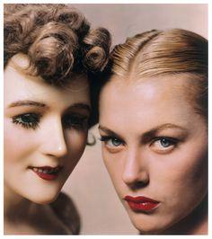 Model and Mannequin, American Vogue Cover, 1 November 1945 PhotoErwin Blumenfeld