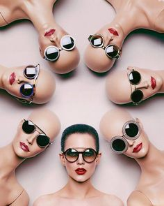 cool advertisement using mannequins for sunglasses