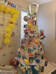 Birthday Tree, Happy 17th Birthday, Christmas Tree, Holiday Decor, Home Decor, Teal Christmas Tree, Decoration Home, Room Decor, Xmas Trees