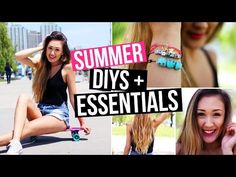 ▶ DIY Summer Bracelets + Summer Skin, Hair & Makeup Essentials! | LaurDIY - YouTube