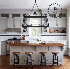 Gray Kitchen with Subway Tiles Backsplash