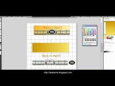 Bottle Label with Gradient Background #Silhouette Cameo Tutorial # Lisa Barrie